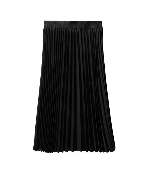 ASTRAET 斜紋布百褶長裙