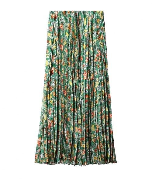 ASTRAET 花朵印花 迷嬉百褶裙