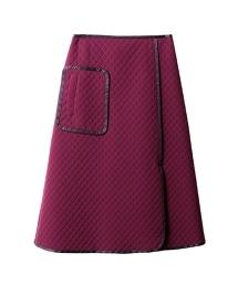 ASTRAET絎縫A字型中長裙