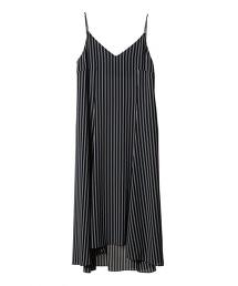 ASTRAET 條紋吊帶連身長裙