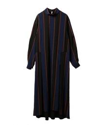 ASTRAET 高領條紋長版洋裝