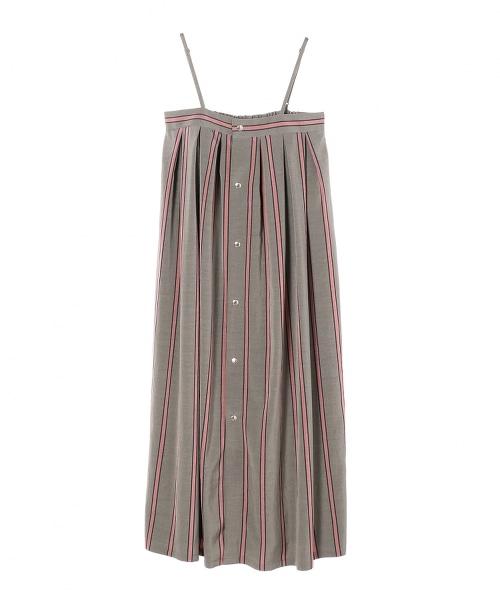 ASTRAET 直條紋 吊帶洋裝