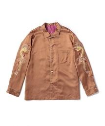 UNITED ARROWS & SONS SOUVENIR SHIRT 兩袖刺繡睡衣型襯衫