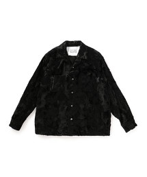 UNITED ARROWS & SONS FAKE FUR OPEN SHIRT