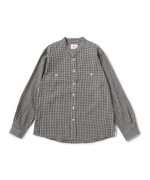 UNITED ARROWS & SONS CTN/LI GGM BAND SHIRT 立領襯衫