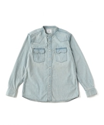 UNITED ARROWS & SONS DENIM WESTERN BAND 單寧西部圓領襯衫