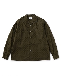 UNITED ARROWS & SONS DOT/PRT OPEN SHIRT 圓點印花開領襯衫