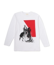 <One Of These Days>Cowboy 2 L/S TEE 牛仔圖案印花T恤