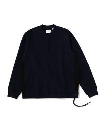 UNITED ARROWS & SONS DB/KNIT H/ZIP 雙面布半拉鏈休閒上衣