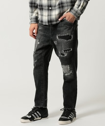 UNITED ARROWS & SONS SASHIKO BLACK DENIM