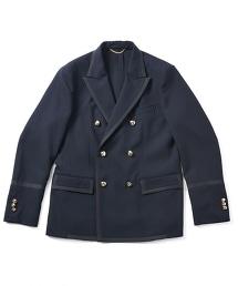 UNITED ARROWS & SONS NVY DB BREASTED BLAZER 藏青色雙排釦休閒西裝外套