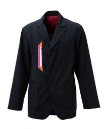 <Hombre Nino × UNITED ARROWS & SONS>3B W/PANE JACKET 聯名別注款單排三釦窗型格紋外套