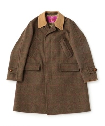 UNITED ARROWS & SONS TWEED W/PN BAL COAT 粗花呢大衣