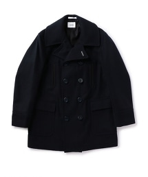 UNITED ARROWS & SONSMELTON PEA COAT 莫爾敦呢海軍雙排扣大衣