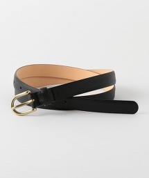 UNITED ARROWS & SONS NARROW LTHER BELT 皮革細腰帶