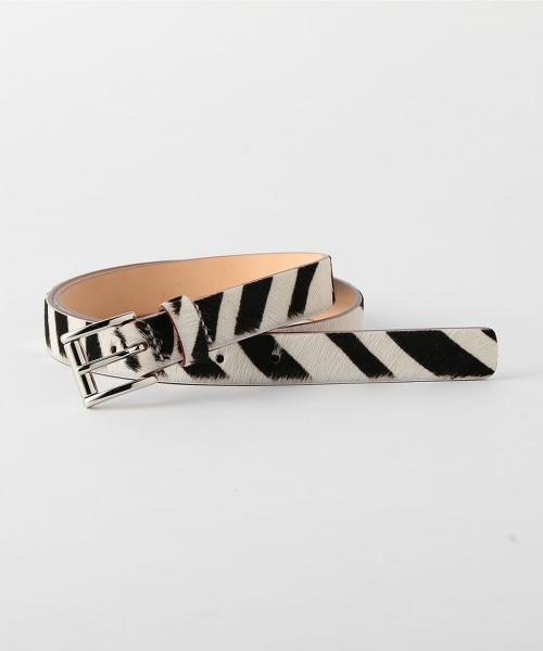 UNITED ARROWS & SONS ZEBRA BELT 斑馬圖案皮革腰帶