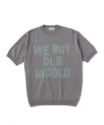 NIGOLD by UNITED ARROWS  LOGO KNIT S/SL
