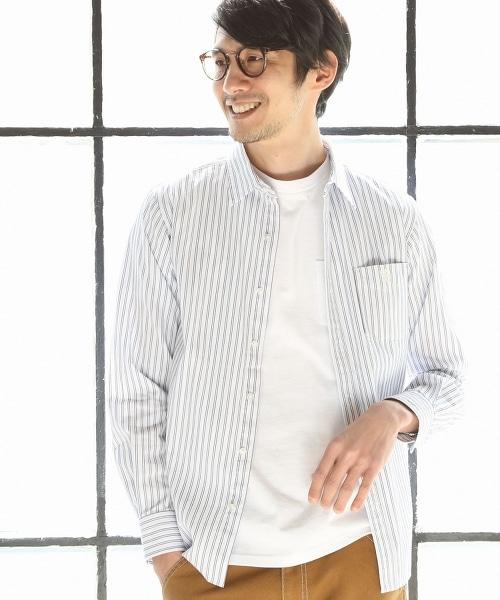 雙條紋標準領襯衫