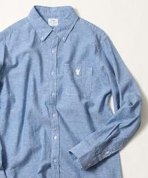 棉麻學生布扣領襯衫
