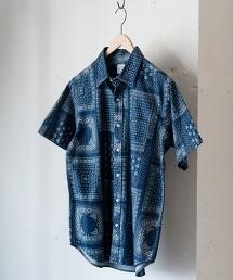 藍染短袖襯衫