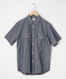 粗藍布工作襯衫