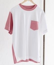 USA棉拼接圓領T恤