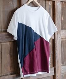 USA棉色塊拼接T恤