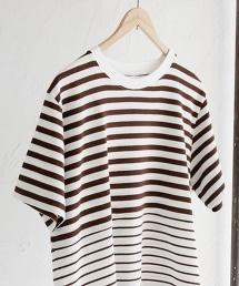 漸層橫條紋圓領T恤