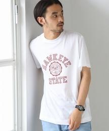 印花大學T恤