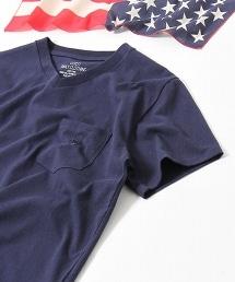 美國棉V領貼袋T恤
