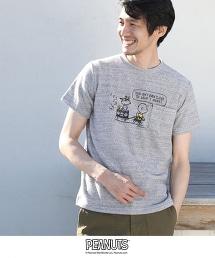 (SNOOPY/史努比)拉絨衝浪T恤(灰色系及其他藍色系及其他⇒網路店舗限定色款)