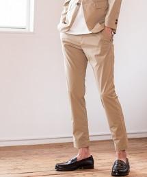 【成套企劃】彈性高密度織錐形褲 ※外套另售