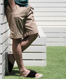 帆布十字花紋短褲
