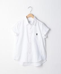 雙層棉紗素色短袖襯衫