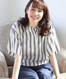 棉質凸紋布直條紋襯衫