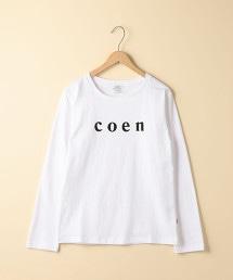 【WOMENS】coen LOGO長袖T恤