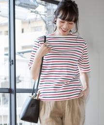 多彩橫條紋T恤