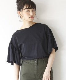【2WAY】有機棉荷葉袖T恤