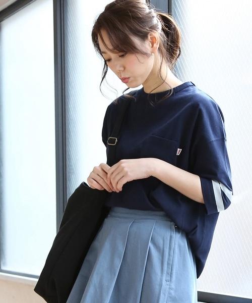 USA棉袖口線條上衣