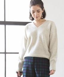 【可手洗】羔羊毛V領毛衣