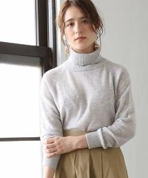 喀什米爾高領針織毛衣