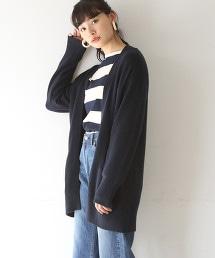 【可手洗】直條紋長版對襟外套