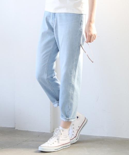 合身錐形5P丹寧褲