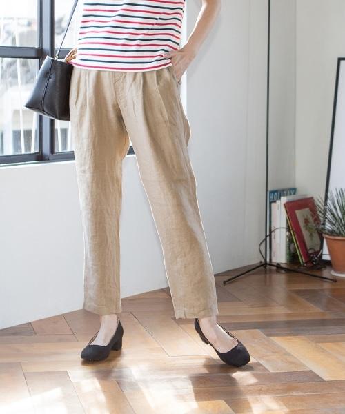 法國亞麻錐形褲I