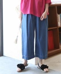 USA棉質輕丹寧寬褲