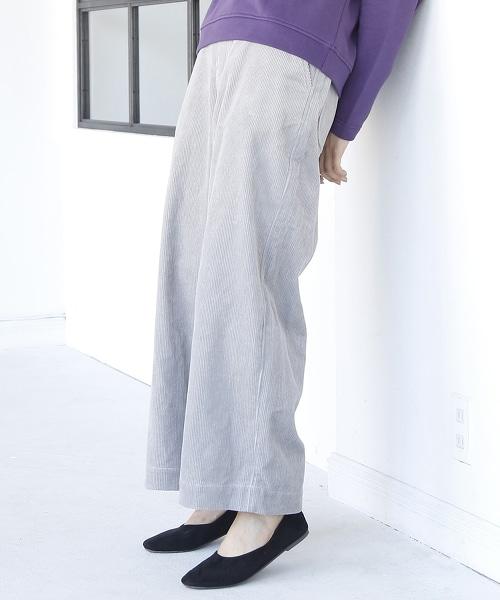 燈芯絨寬褲