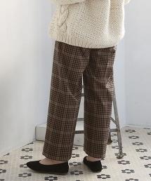 格紋寬褲II