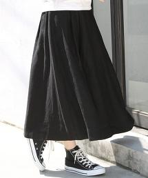 法國亞麻荷葉長裙