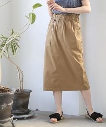 綾織輕便長版窄裙