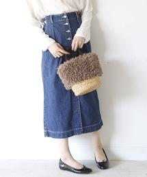 USA棉單寧長裙